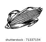 ear of corn   retro ad art... | Shutterstock .eps vector #71337154