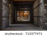 creepy attic interior at... | Shutterstock . vector #713377471