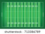 top views of american football... | Shutterstock .eps vector #713386789
