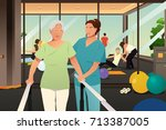 a vector illustration of... | Shutterstock .eps vector #713387005