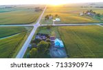 midwest rural life  | Shutterstock . vector #713390974