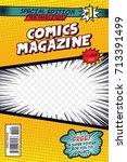 Comic book cover. Vector art | Shutterstock vector #713391499
