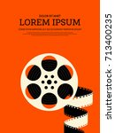 movie and film modern retro... | Shutterstock .eps vector #713400235