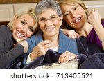 family of three generation of... | Shutterstock . vector #713405521