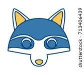 racoon animal cartoon | Shutterstock .eps vector #713406439