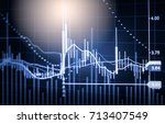 stock market or forex trading... | Shutterstock . vector #713407549