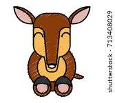 anteater animal cartoon | Shutterstock .eps vector #713408029