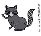 racoon animal cartoon | Shutterstock .eps vector #713408569