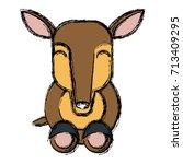 anteater animal cartoon | Shutterstock .eps vector #713409295
