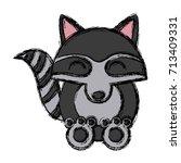 racoon animal cartoon | Shutterstock .eps vector #713409331