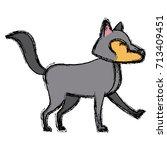 wolf cartoon animal | Shutterstock .eps vector #713409451