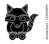 racoon animal cartoon | Shutterstock .eps vector #713409895