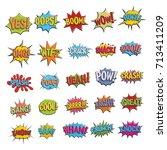 comic bubble sound icon vector... | Shutterstock .eps vector #713411209