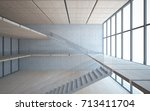 abstract  concrete and wood... | Shutterstock . vector #713411704
