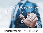 automation software technology... | Shutterstock . vector #713413354