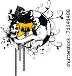heraldic soccer coat of arms in ...   Shutterstock .eps vector #71341408