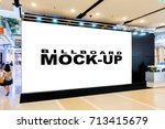 blank billboards located in... | Shutterstock . vector #713415679