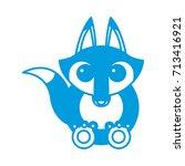 anteater animal cartoon | Shutterstock .eps vector #713416921