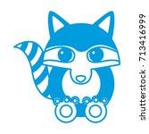 racoon animal cartoon | Shutterstock .eps vector #713416999