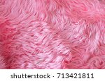 close up pink fur texture or... | Shutterstock . vector #713421811
