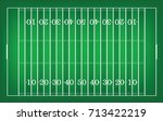 top views of american football... | Shutterstock .eps vector #713422219