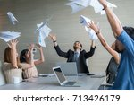 business people celebrating by... | Shutterstock . vector #713426179