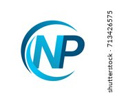 initial letter np logotype... | Shutterstock .eps vector #713426575