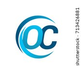 initial letter oc logotype... | Shutterstock .eps vector #713426881