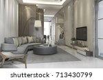 3d rendering luxury and modern... | Shutterstock . vector #713430799