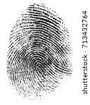 fingerprint vector illustration | Shutterstock .eps vector #713432764