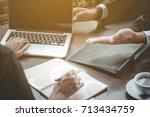 successful business people... | Shutterstock . vector #713434759