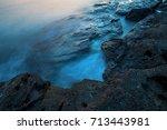 beautiful mysterious marine... | Shutterstock . vector #713443981