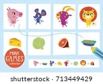 mini games collections. feed...   Shutterstock .eps vector #713449429