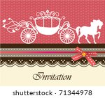 invitation card with carriage   ... | Shutterstock .eps vector #71344978