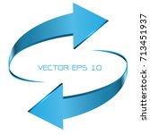 blue arrow cycle direction 3d...   Shutterstock .eps vector #713451937