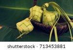 ketupat  rice dumpling  on... | Shutterstock . vector #713453881