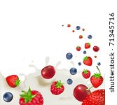 strawberry  raspberry  bilberry ... | Shutterstock . vector #71345716