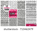 set of 8 primitive geometric... | Shutterstock .eps vector #713462479