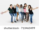 diversity men and women group... | Shutterstock . vector #713463499