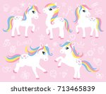 Cute White Little Pony Or Hors...