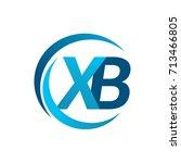 initial letter xb logotype... | Shutterstock .eps vector #713466805