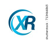 initial letter xr logotype...   Shutterstock .eps vector #713466865