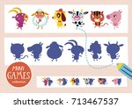 find the correct shadow. mini... | Shutterstock .eps vector #713467537