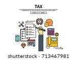 flat line vector editable... | Shutterstock .eps vector #713467981