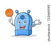 playing basketball pencil... | Shutterstock .eps vector #713469595