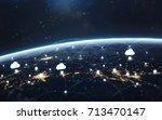 data exchange and global... | Shutterstock . vector #713470147