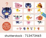 assemble the pictures. mini... | Shutterstock .eps vector #713473465
