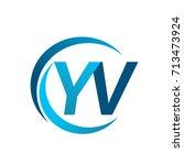 initial letter yv logotype...   Shutterstock .eps vector #713473924