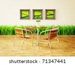 modern interior room with nice... | Shutterstock . vector #71347441