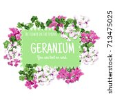 Geranium Card Design. The...